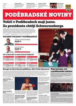 Voliči v Poděbradech mají jasno. Za prezidenta chtějí