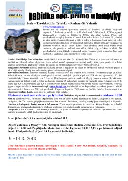 Itálie - Vinschgau – Reshen –St - SKI-X-BIKE