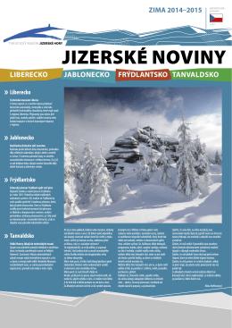 Jizerské Noviny - zima 2014/2015