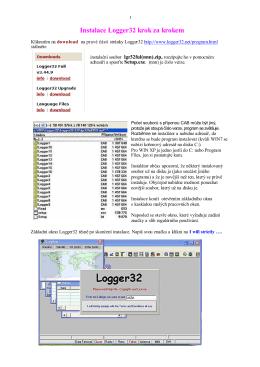 První instalace programu LOGGER32 (PDF)