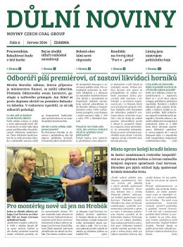 Důlní noviny ročník XVII číslo 6
