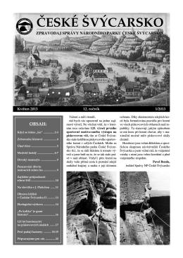 Číslo 1/2013 - Správa Národního parku České Švýcarsko