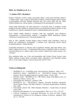 životopis - Nadace Dagmar a Václava Havlových