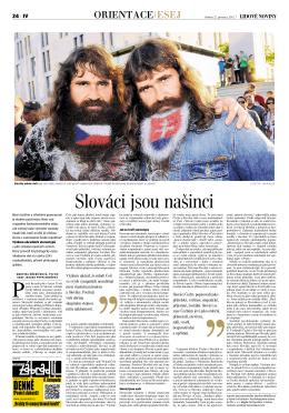Slováci jsou našinci - Psychologický ústav Akademie věd