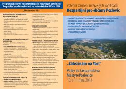 """Kandidátka č.1 - SNK """"Bezpartijní pro občany Pozlovic"""""""