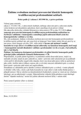 Konečný text petice