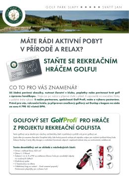 staňte se rekreačním hráčem golfu!