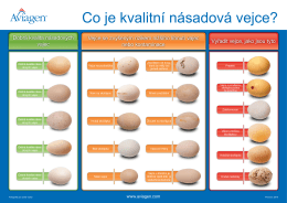 Dobrá kvalita násadových vajec Vejce se zvýšeným