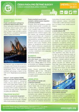 eNewsletter 8/2014 - Česká rada pro šetrné budovy