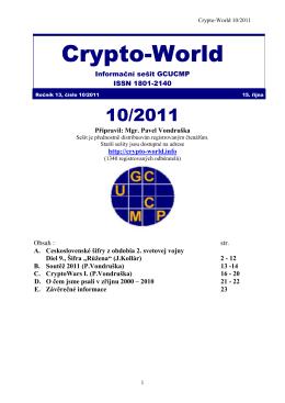 Sešit 10/2011 / PDF - Crypto