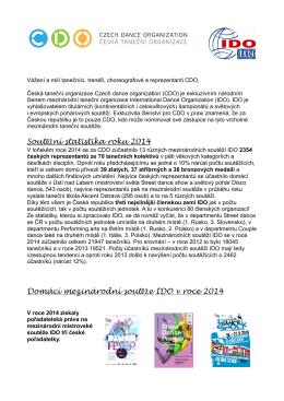 informace o mezinárodní sezóně 2014