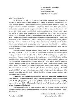 Technická správa komunikací pan Jiří Tumpach Poděbradská 218