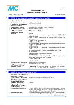 Bezpecnostni listy MC-PowerFlow 2695-CZ {PDF