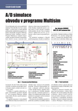 A/D simulace obvodu v programu Multisim