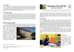Zpravodaj ZŠ a ZUŠ Zliv 3 - Základní škola a Základní umělecká