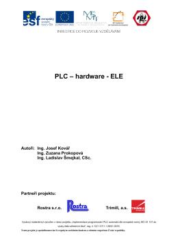 PLC – hardware – ELE - Střední průmyslová škola Zlín