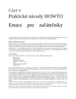 Praktické návody HOWTO Emacs pro začátečníky