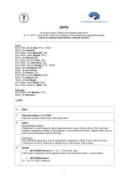 Zápis_19.11.2014 - Česká neurologická společnost