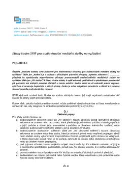 Etický kodex AV obchodního sdělení