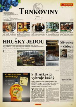 Slivovice v číslech - Rudolf Jelínek, a.s.