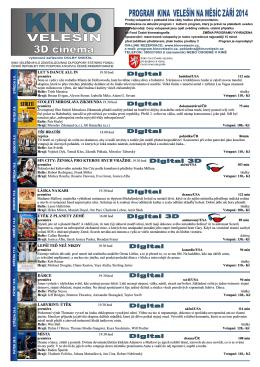 Program kina na ZÁŘÍ2014