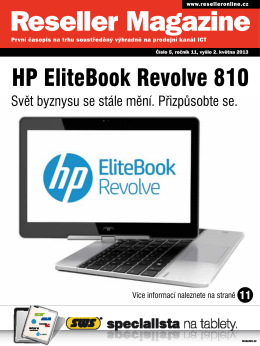 HP EliteBook Revolve 810 - Reseller Magazine OnLine