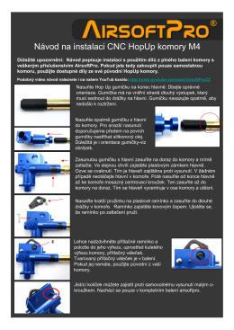 Návod na instalaci CNC HopUp komory M4