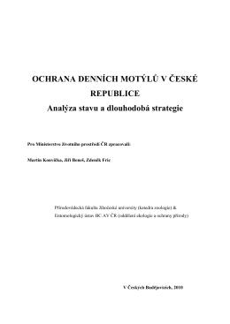 PDF text - Mapování a ochrana motýlů České republiky