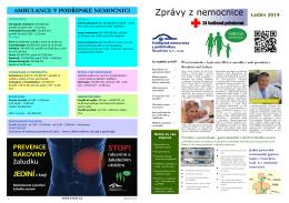 Leden 2014 - Podřipská nemocnice s poliklinikou Roudnice nad