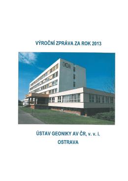 Výroční zpráva za rok 2013 - Institute of Geonics