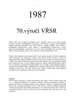 1987 - Městys Rokytnice nad Rokytnou