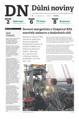 Důlní noviny ročník XVI číslo 21