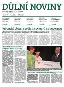 Důlní noviny ročník XVII číslo 10