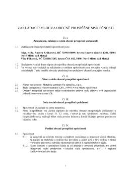 Zakládací smlouva [PDF] - Mateřské centrum Na zámečku