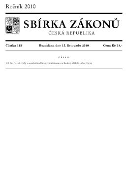 Částka 115, 313 - Ministerstvo vnitra