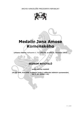 Medaile Jana Amose Komenského