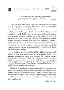 Velké Němčice 2014 pdf - Výstava vín Velké Němčice