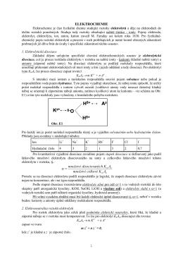 Přednáška 5 - elektrochemie