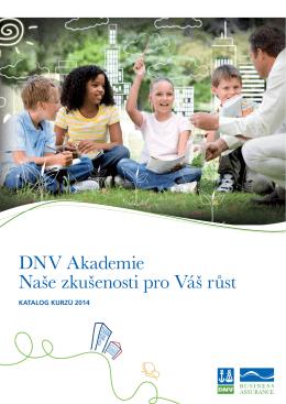 DNV Akademie Naše zkušenosti pro Váš růst