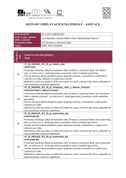 2F1 Struktura a vlastnosti látek