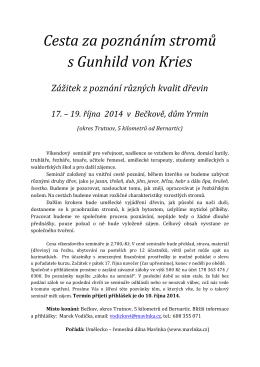Cesta za poznáním stromů s Gunhild von Kries Zážitek z