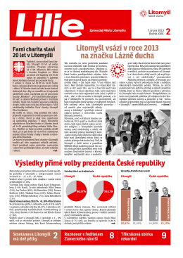 únor 2013 - Farní charita Litomyšl