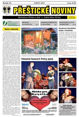 Leden (.pdf) - Kulturní a komunitní centrum Přeštice