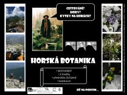 Horská botanika - úvod (B. Brandová)