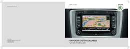 navigační systém columbus návod k obsluze - Media Portal