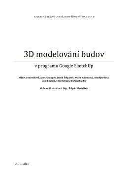 3D modelování budov v programu Google Sketch up