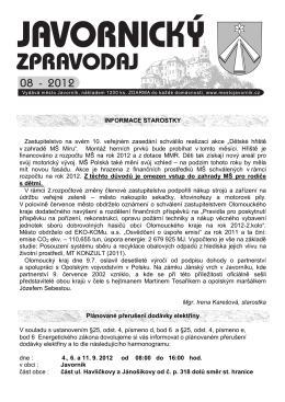 08 - Město Javorník