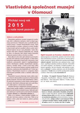 Programový dvojlist VSMO na I. pololetí roku 2015 ke stažení (pdf)