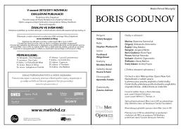 BORIS GODUNOV - Metropolitan opera