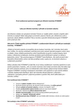 Fitness program pro těhotné ženy v přírodě (.pdf)